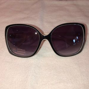 LC Black and ivory large sunglasses New